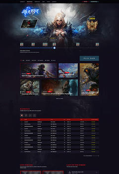 L2 Mirage Game website Template